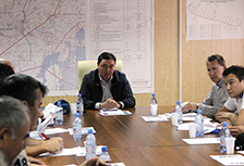 Business trip to the construction of the railway district Shalkar-Beineu in May 2014