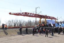 The start of construction at the railway station Almaty-1-Shu