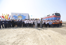 "The ceremonial opening of the cargo movement on ""Borzhakty — Ersay"""