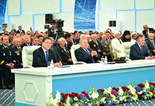 The teleconference with the participation of the President to launch a new railway line Zhezkazgan - Beyneu