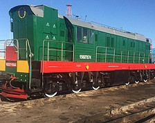 Workers of the Kazalin locomotive repair plant have mastered the repair technology of maneuver locomotive CHME3t